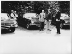 Dr. Carl Hoffman with doctors in parking lot at Russian hospital
