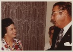 Dr. Carl Hoffman (right) with Maria Molina, ca. 1970's,