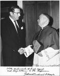 Dr. Carl Hoffman with Cardinal O'Boyle, Archbishop of Washington, Nov. 1972,