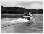 Dr. Carl Hoffman & family on boat on Ohio River, Summer 1955