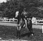 Dr. Charles Hoffman on his horse, Queen of Diamonds