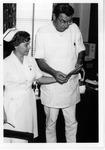 Dr. Carl Hoffman and nurse Annie Weber at Hoffman Urology Clinic, Huntington,