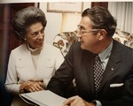 Dr. Carl Hoffman & wife Lynn when he was elected prfes. of AMA, June 1971