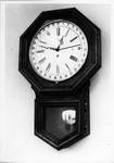 Clock in the Dr.Carl Hoffman room in Morrow Library, Marshall University