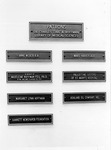 Plaques of patrons Dr.Carl Hoffman room in Morrow Library, Marshall University