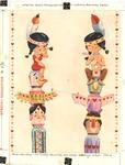 Native American boy and girl Valentine