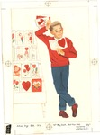 Boy with Valentine's Day cards