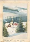 Winter church scene from hill