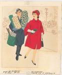 Man and woman Christmas shopping