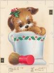 Shaving cream puppy