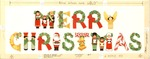 Merry Christmas in figures and symbols