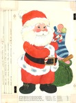 Santa with toys and candy