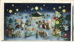 Children and animals on way to manger
