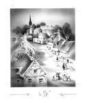 Winter town scene
