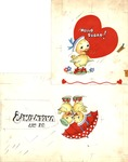 Hello Sugar Ducks Valentine's card