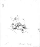 Wheelbarrow with heart, bow, and flowers