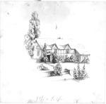 English Tudor-style house with shrubbery