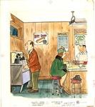 Man and woman at diner