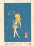 Teen girl with see-through rain coat