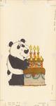 Panda with Birthday cake