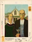 American Gothic with martini