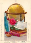 Graduation with globe and books