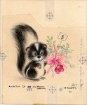 Skunk with orchid corsage
