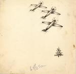 Three planes with pine tree