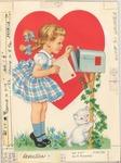 Girl mailing Valentine