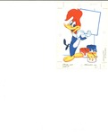 Woody the Woodpecker with blank sign