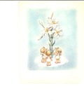 Angels and white lilies