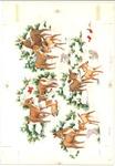 Deer family in winter