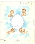 Baby angels with empty frame