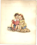 Boy and Girl with My Birthday Book