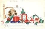 Puppy with present conveyor belt