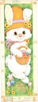 Easter bunny with hat and basket