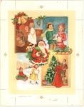 Four panel Christmas scene