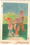 Baseball father with two boys