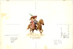 Colonial boy and girl on horse
