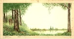 Couple in woods by lake