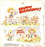 Birthday cowboy cartoon
