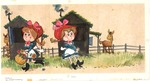 Woman with shed and horse Rainbowland Calendar December