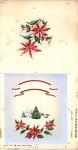 Winter scene with poinsettias