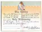 Marriage license for Earl F. Dickinson and Edith C. Smith, Jan. 18, 1946, b&w