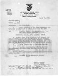 Transfer of USMC Pfc. Earl F. Dickinson to Camp Lejeune training center for marine training, Mar. 30, 1943, b&w
