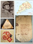 Photo of collage of WWII US Marine items of Sgt. Earl F. Dickinson