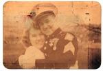 Photo of Marine Sgt. Earl F. Dickinson, and wife, Edith Smith, 1946