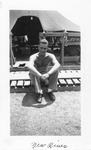 Photo of Marine Sgt. Earl F. Dickinson at camp, Camp Lejeune, New River, NC