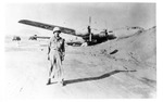 WWII Pacific Theater, combat photo: wrecked US B-29 Superfortress bomber