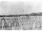 WWII Pacific Theater, combat photo: US Marine cemetery, unknown location